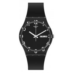 Unisex Swatch Watch Gent Over Black GB757