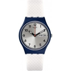 Unisex Swatch Watch Gent White Delight GN720