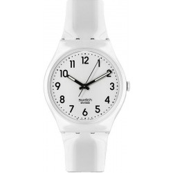 Unisex Swatch Watch Gent Just White GW151