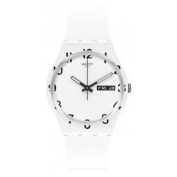 Unisex Swatch Watch Gent Over White GW716