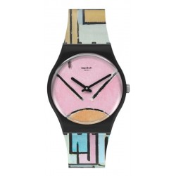 Buy Swatch Watch MoMA Composition in Oval with Color Planes 1 by Piet Mondrian GZ350