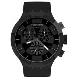 Buy Swatch Watch Big Bold Chrono Checkpoint Black SB02B400