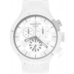 Buy Swatch Watch Big Bold Chrono Chequered White SB02W400