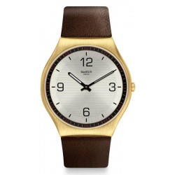 Buy Mens Swatch Watch Skin Irony Skin Suit Coffee SS07G100