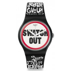 Unisex Swatch Watch New Gent Swatch Out SUOB160