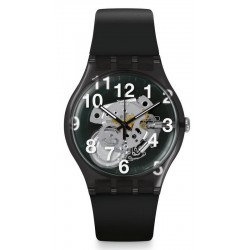 Unisex Swatch Watch New Gent Black Board SUOK135