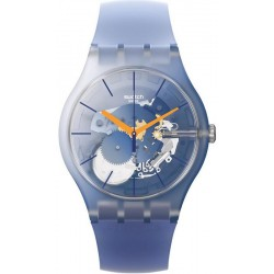 Unisex Swatch Watch New Gent All That Blues SUOK150