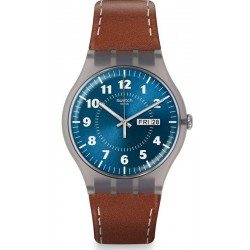 Men's Swatch Watch New Gent Vent Brulant SUOK709