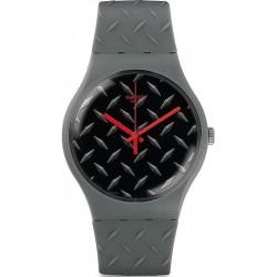 Unisex Swatch Watch New Gent Text-ure SUOM102