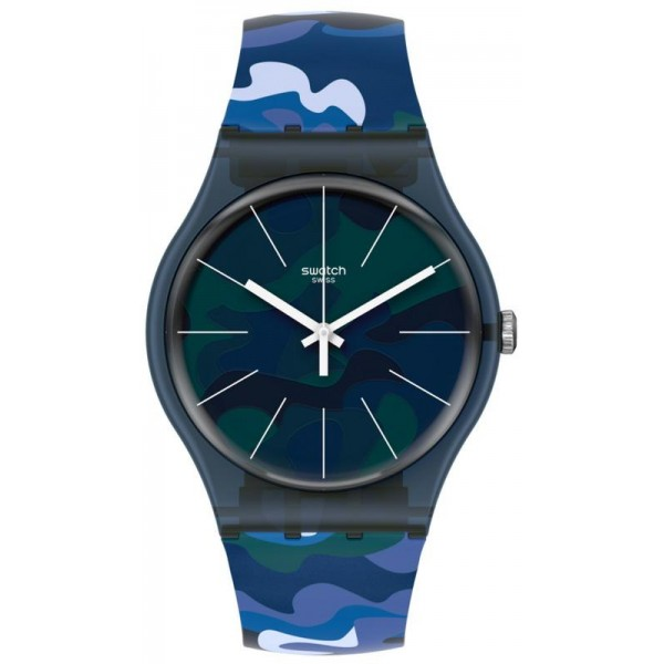 Buy Unisex Swatch Watch New Gent Camouclouds SUON140