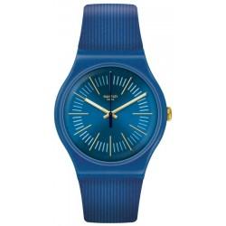 Unisex Swatch Watch New Gent Cyderalblue SUON143
