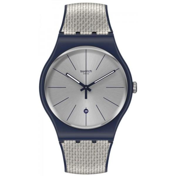 Buy Unisex Swatch Watch New Gent Grey Cord SUON402