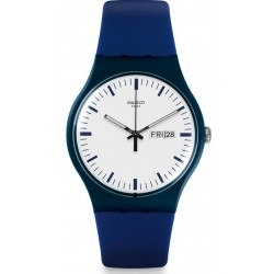 Unisex Swatch Watch New Gent Bellablu SUON709