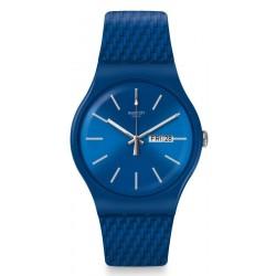 Unisex Swatch Watch New Gent Bricablue SUON711