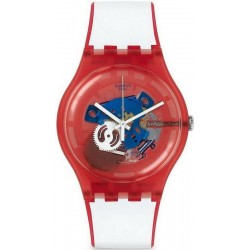Unisex Swatch Watch New Gent Clownfish Red SUOR102