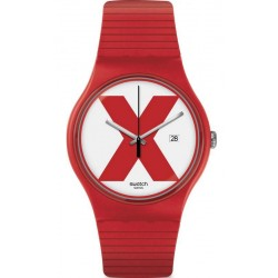 Unisex Swatch Watch New Gent XX-Rated Red SUOR400