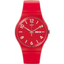 Unisex Swatch Watch New Gent Backup Red SUOR705