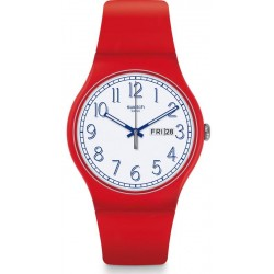 Unisex Swatch Watch New Gent Red Me Up SUOR707