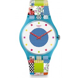 Women's Swatch Watch New Gent Quilted Time SUOS108