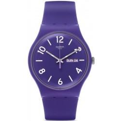Unisex Swatch Watch New Gent Backup Purple SUOV703