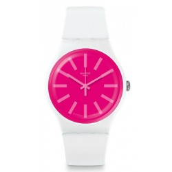 Unisex Swatch Watch New Gent Strawbeon SUOW162