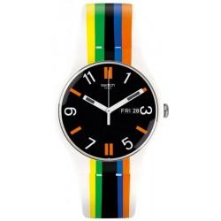 Unisex Swatch Watch New Gent Ligne De Fuite SUOW708