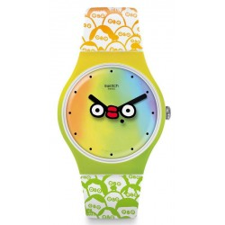 Buy Unisex Swatch Club Watch New Gent What's Yo Face? SUOZ303