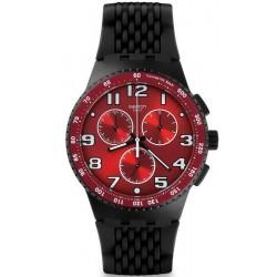 Buy Men's Swatch Watch Chrono Plastic Testa di Toro SUSB101 Chronograph