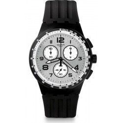 Men's Swatch Watch Chrono Plastic Nocloud SUSB103 Chronograph