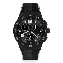 Buy Mens Swatch Watch Chrono Plastic Black Cord SUSB106