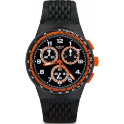 Men's Swatch Watch Chrono Plastic Nerolino SUSB408 Chronograph