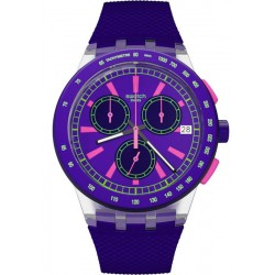 Buy Unisex Swatch Watch Chrono Plastic Purp-Lol SUSK400 Chronograph