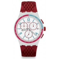 Buy Unisex Swatch Watch Chrono Plastic Red Track SUSM403 Chronograph