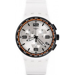 Buy Unisex Swatch Watch Chrono Plastic White Blades SUSW405 Chronograph