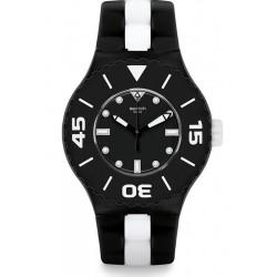 Men's Swatch Watch Scuba Libre B&W Deep SUUB102