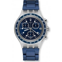 Men's Swatch Watch Irony Diaphane Be Colorful SVCK4077AG Chronograph