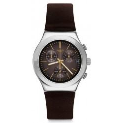 Men's Swatch Watch Irony Chrono Brownflect YCS600 Chronograph