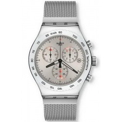 Men's Swatch Watch Irony Chrono Silverish YVS405G Chronograph