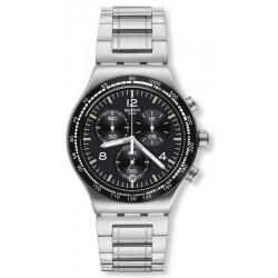 Men's Swatch Watch Irony Chrono Night Flight YVS444G Chronograph