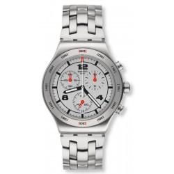 Unisex Swatch Watch Irony Chrono Silver Again YVS447G Chronograph