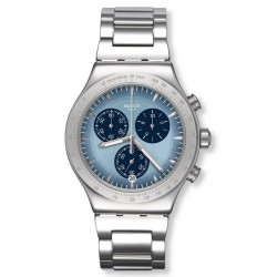 Men's Swatch Watch Irony Chrono Sky Icon YVS459G Chronograph