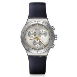 Unisex Swatch Watch Irony Chrono Darkmeblue YVS460 Chronograph