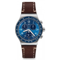Men's Swatch Watch Irony Chrono Casual Blue YVS466 Chronograph