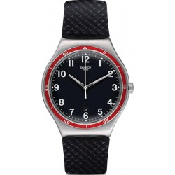 Men's Swatch Watch Irony Big Classic Red Wheel YWS417