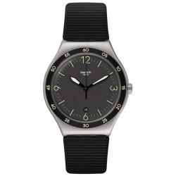 Unisex Swatch Watch Irony Black Suit Big Classic YWS454