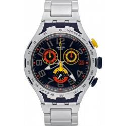 Men's Swatch Watch Irony Xlite Darkony YYS4006AG Chronograph