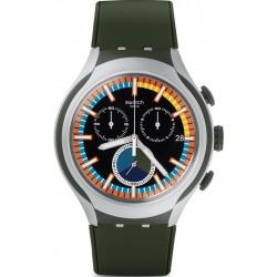 Men's Swatch Watch Irony Xlite Moss YYS4009 Chronograph