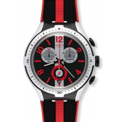 Men's Swatch Watch Irony Xlite Stripes YYS4013 Chronograph