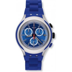 Men's Swatch Watch Irony Xlite Blue Attack YYS4017AG Chronograph