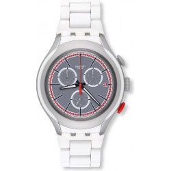 Men's Swatch Watch Irony Xlite White Attack YYS4019AG Chronograph